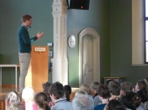 Fridolin speech at high school