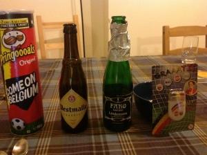 プリングルスとビール